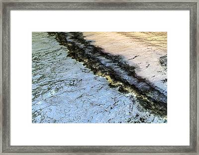 Sea Foam Pit Framed Print
