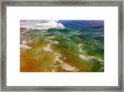 Colorful Ocean Photo Framed Print