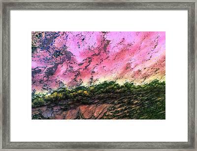 Sea Foam Art Framed Print