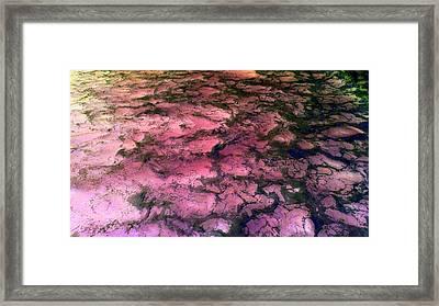 Sea Foam Pinkish Black Framed Print