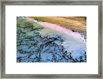 Sea Foam Pink Framed Print