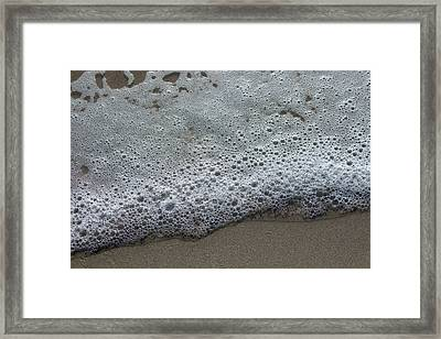 Framed Print featuring the photograph Sea Foam Abstract by Cliff Wassmann