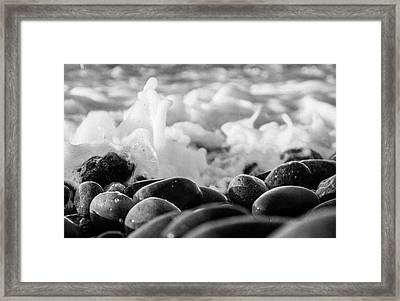 Sea Foam B-w Framed Print