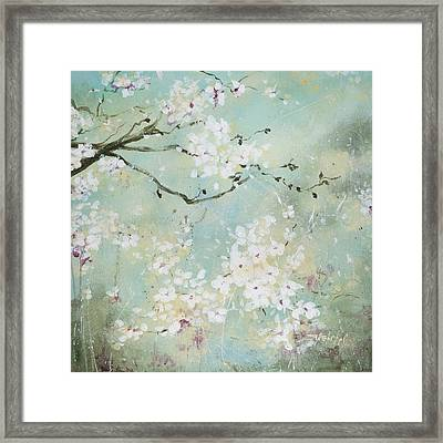 Framed Print featuring the painting Sea Foam by Laura Lee Zanghetti