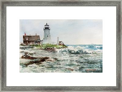 Sea Foam Framed Print by Monte Toon