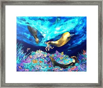 Sea Garden  Framed Print by Dianne Roberson