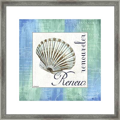 Sea Glass 2 Framed Print by Debbie DeWitt
