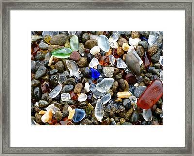 Sea Glass Beauty Framed Print