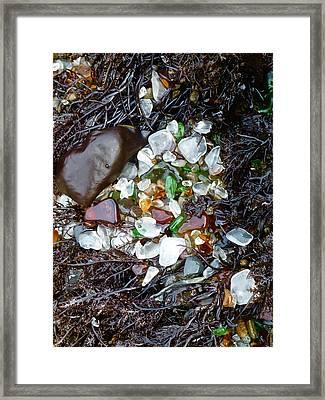 Sea Glass Nest Framed Print
