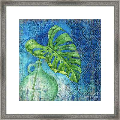 Sea Glass Palm I Framed Print by Paul Brent