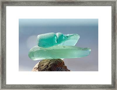 Sea Glass Seven Framed Print