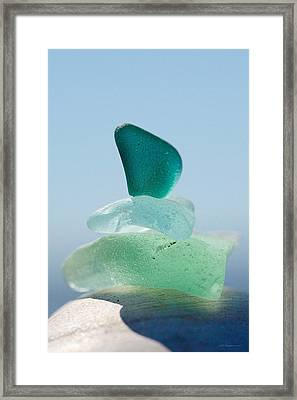 Sea Glass Six Framed Print