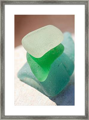 Sea Glass Ten Framed Print