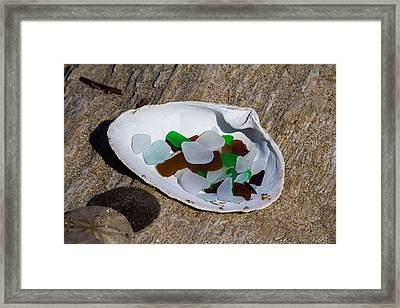 Sea Glass Treasure  Framed Print