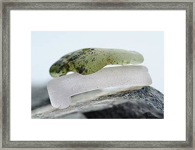 Sea Glass Twelve Framed Print