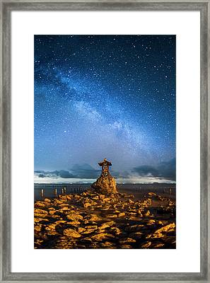 Framed Print featuring the photograph Sea Goddess Statue, Bali by Pradeep Raja Prints