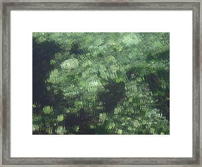 Sea Green Abstract Framed Print