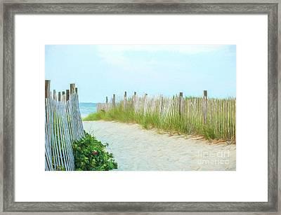 Sea Gull Beach #1 Framed Print