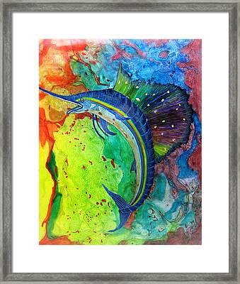 Sea Gymnast Framed Print by David Raderstorf