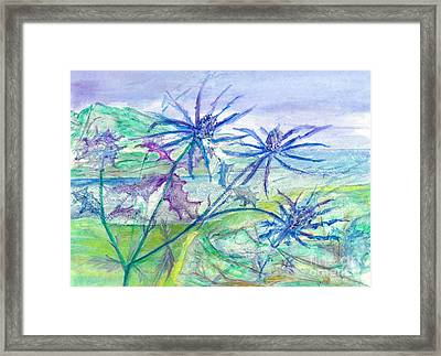 Sea Holly Framed Print by Veronica Rickard