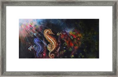 Sea Horses Framed Print by Arun Sivaprasad