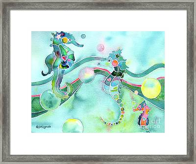 Sea Horses Dance Prints  Framed Print