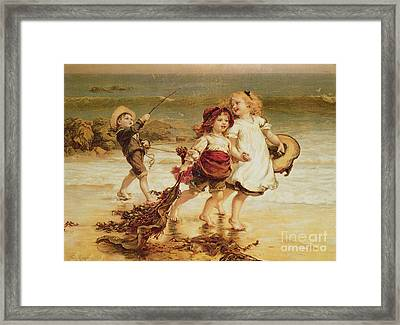 Sea Horses Framed Print by Frederick Morgan