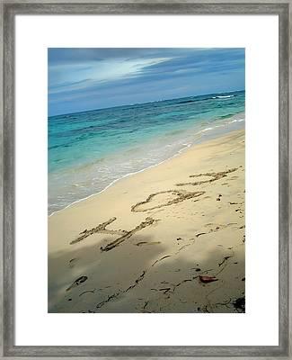 Sea I Love You Framed Print