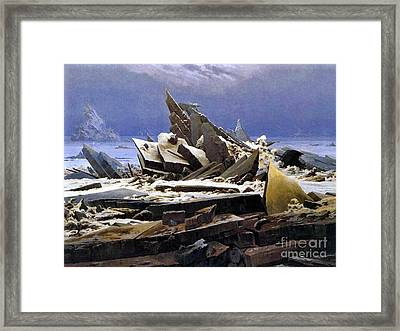 Sea Ice 1824 Framed Print