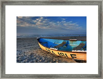 Sea Isle City Lifeguard Boat Framed Print