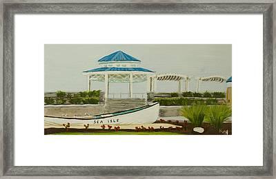 Sea Isle City New Jersey Gazebo Framed Print by Patty Kay Hall
