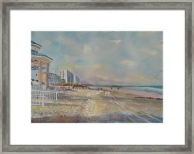 Sea Isle City New Jersey Framed Print by Patty Kay Hall