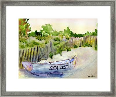 Sea Isle Rescue Boat Framed Print by Paul Temple