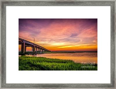 Sea Isle Sunset Framed Print by Nick Zelinsky