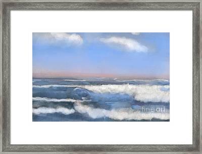 Sea Isle Waves Framed Print