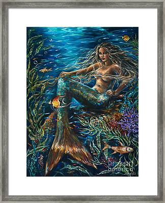 Sea Jewels Mermaid Framed Print