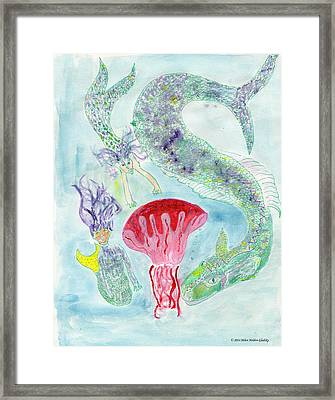 Sea Joys Framed Print