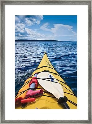 Sea Kayaking Framed Print by Steve Gadomski