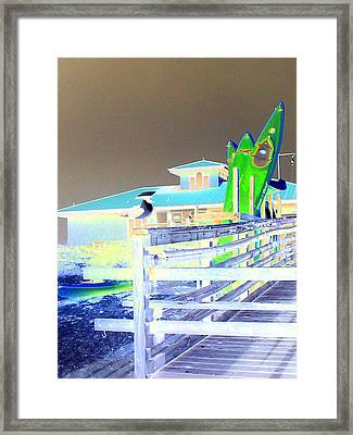 Sea Kyayks Framed Print by Peter  McIntosh