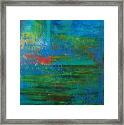 Sea Ligthts Framed Print by Meltem Quinlan