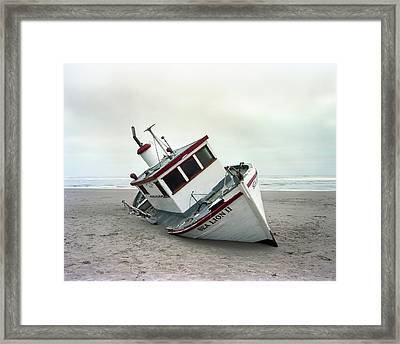 Sea Lion II - Last Day On The Beach Framed Print by HW Kateley