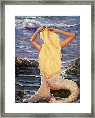 Framed Print featuring the painting Sea Maiden by Joni McPherson