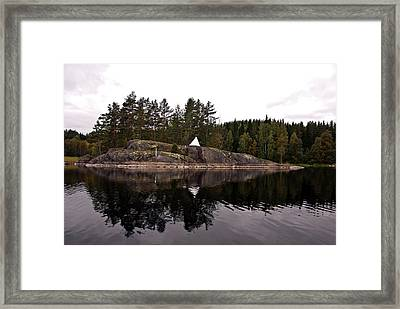 Sea Mark On An Islet At Lake Saimaa Framed Print
