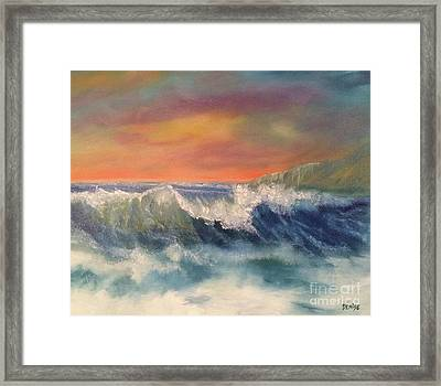 Framed Print featuring the painting Sea Mist by Denise Tomasura