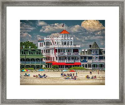 Sea Mist Hotel Framed Print