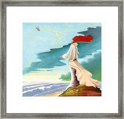 Sea Monitor Framed Print