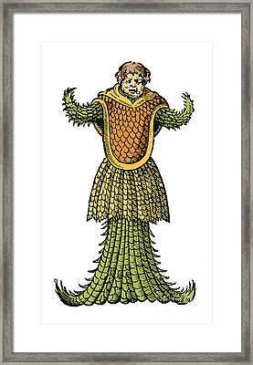 Sea Monk, Legendary Monster, 16th Framed Print