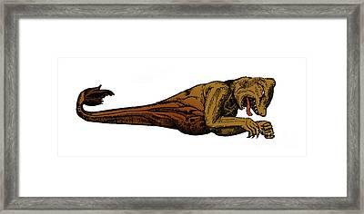 Sea Monster, 16th Century Framed Print
