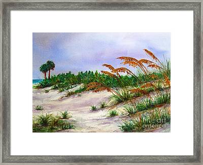 Sea Oats In The Dunes Framed Print