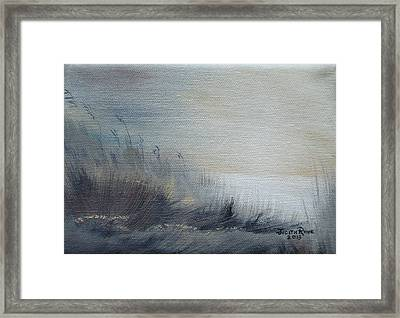Framed Print featuring the painting Sea Oats by Judith Rhue